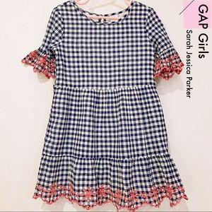 Gap Girls Sarah Jessica Parker Gingham Dress S